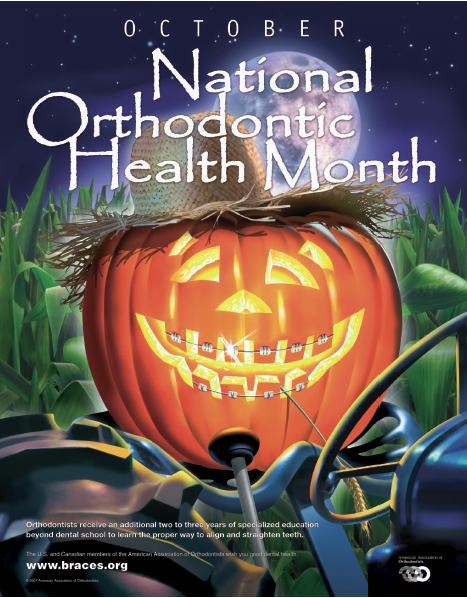 October's National Orthodontic Health Month & Halloween is just around the corner…